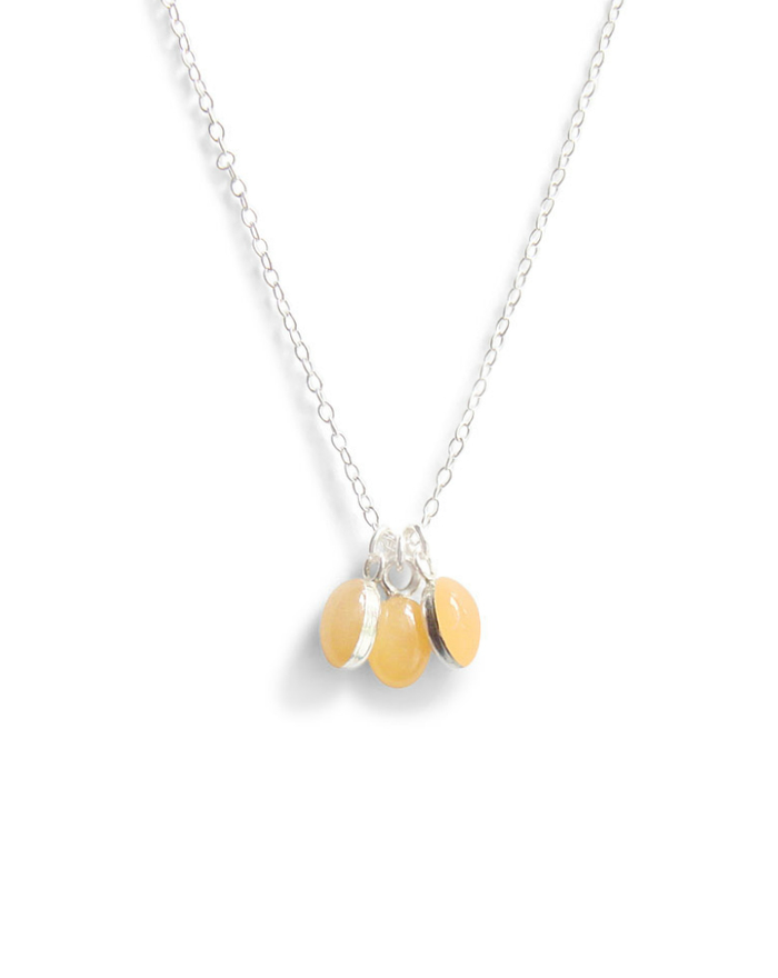 three tiny ovals necklace in pale peach by Kate and Moose