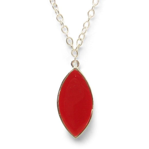 All Eyes On You - Poppy Red Marquis Statement Necklace