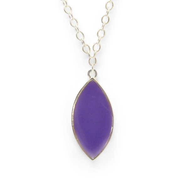 Purple Marquis Statement Necklace by Kate and Moose