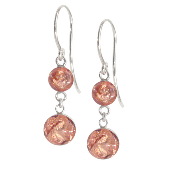 rose gold dangle earrings, rose gold drop earrings