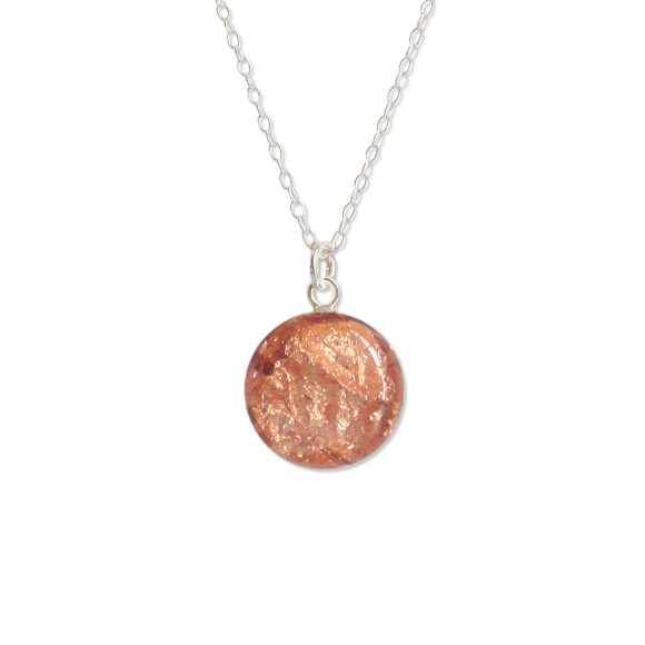 Rose Gold Flake Necklace