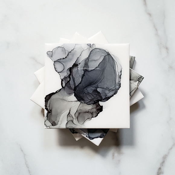 Fifty Shades of Gray Ceramic Drink Coasters