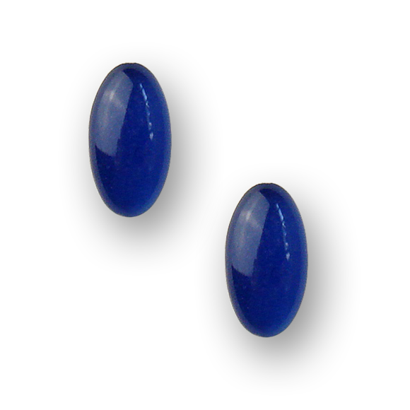 blueberry resin filled sterling silver small oval stud earrings by Kate and Moose