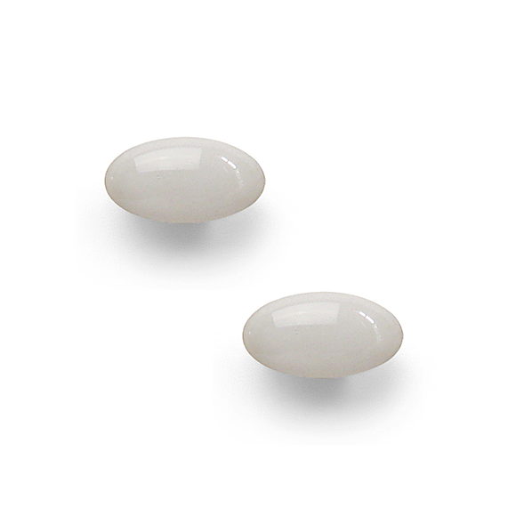 light gray resin filled sterling silver small oval stud earrings by Kate and Moose