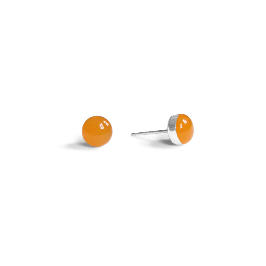 Tiger Orange Stud Earrings