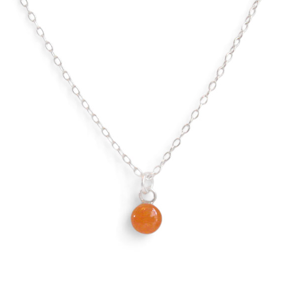Pumpkin Orange Tiny Circle Layering Necklace by Kate and Moose