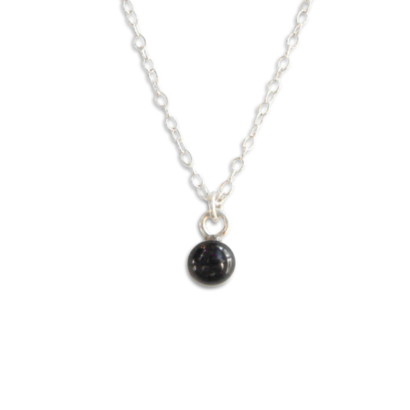 Black Tiny Circle Layering Necklace