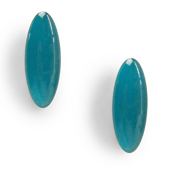 Pacific Coast Teal Ear Crawler Resin Stud Earrings
