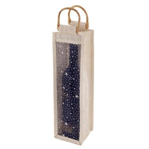 Starry Night Jute Bag - Bamboo & renewable jute include some sparkle to give this eco-friendly tote evening bag allure.