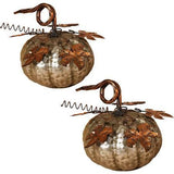 Hammered Silver Metal Pumpkin (Set of 2)