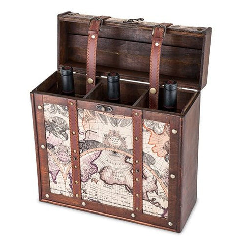 Chateau Old World Wooden Wine Box 3 Bottle perfect gift for your wine connoisseur