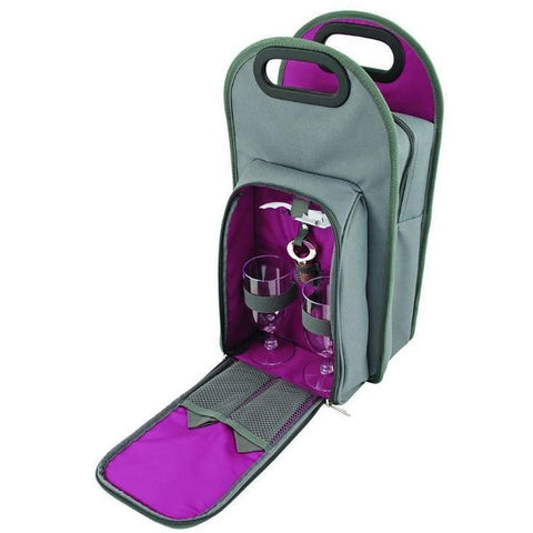 Metro 2 Bottle Tote in Grey