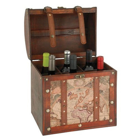 Chateau 6 Wine Bottle Old World Box perfect for the Wine lover