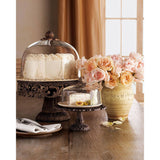GG Collection Acanthus Cake Pedestal w/Dome & Plate