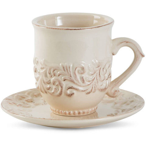 GG Collection Acanthus Tall Cup w/ Saucer
