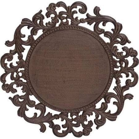 GG Collection Acanthus Ornate Metal Charger Plate