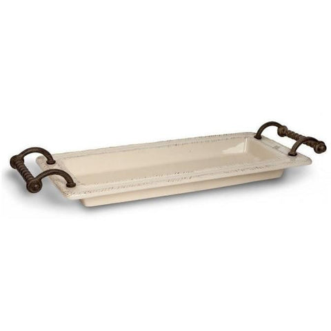 GG Collection Provincial Tray with Metal Handles