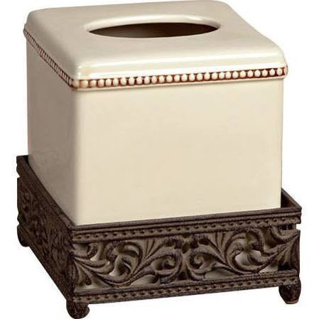 The GG Collection Ceramic Square Tissue Box is a beautiful addition to your powder room.