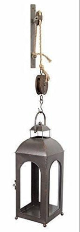 Wall Pulley Mounted Lantern with Bracket