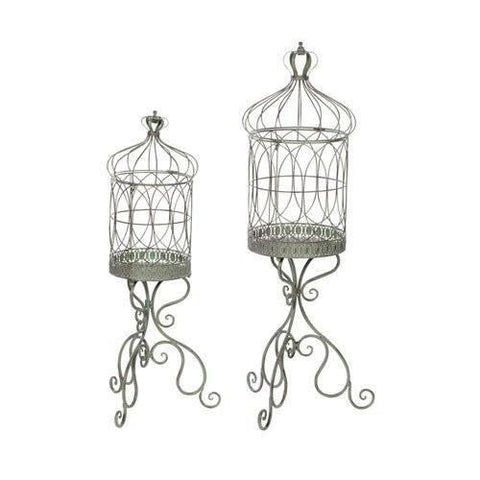 Iron Birdcage Plant Stand
