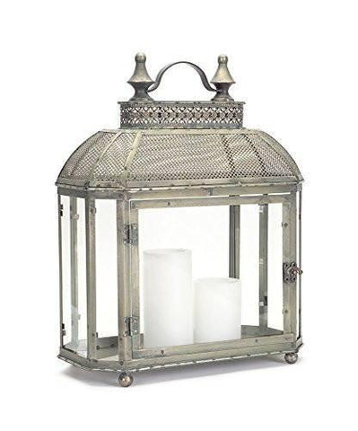 Large lantern with intricate detail.