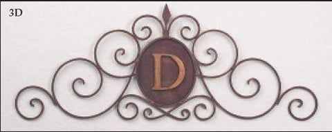Scroll Horizontal Monogrammed Wall Grille