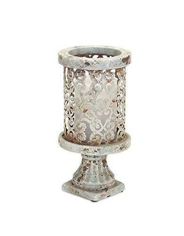 Stone-look Pedestal Candle Holder