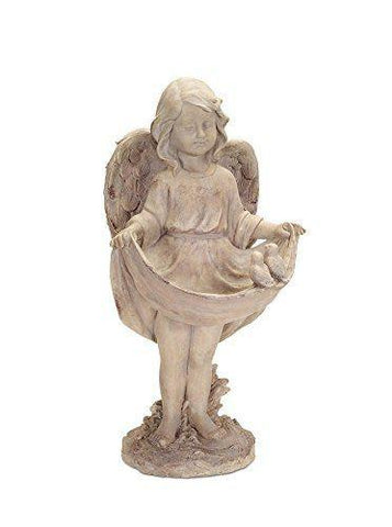 Decorative Concrete Cherub Bird Feeder