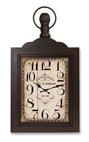 Weathered Wood Wall Mount Clock