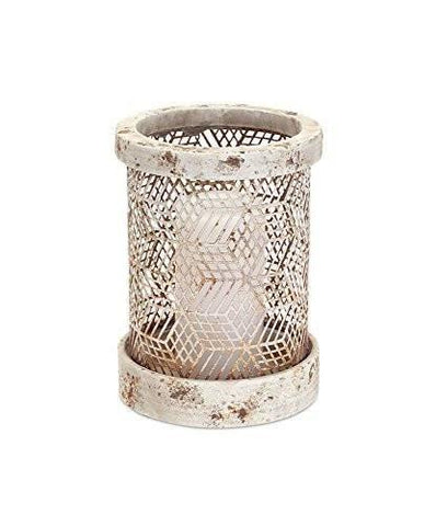 Stone-look Mesh Candle Holder
