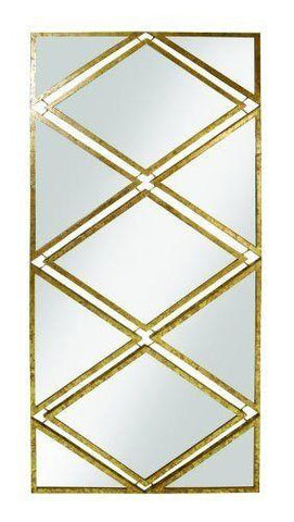 Iron Diamond Sectioned Wall Mirror