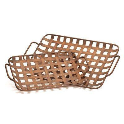 Open weave Tray Set