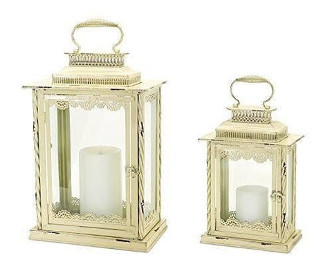 Distressed Candle Lanterns