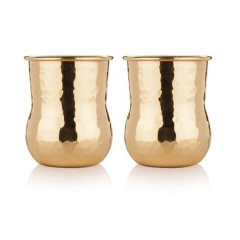 Hammered Brass Shot Glasses