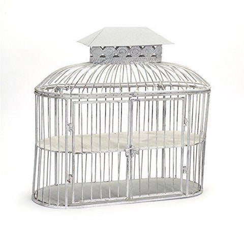 Two-Tier Birdcage Shelves w/Hinged Top & Doors