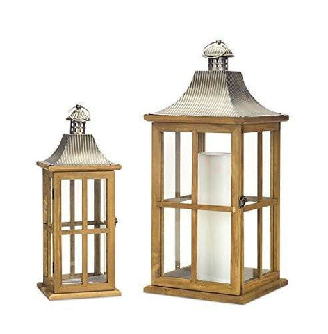 Craftsman Wood & Metal Candle Lanterns