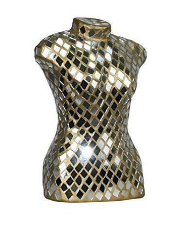Small Mirrored Mosaic Dress Form
