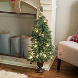 Deluxe Cashmere Pine Potted Pre-lit Christmas Tree in a beautiful urn.