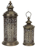 Decorative Metal Lanterns with Filgree Detail