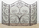 Antique Brown Oversized Scroll Fire Screen