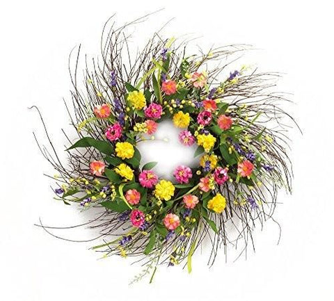 Spring Floral Flower Wreath