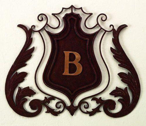 Monogrammed Shield Wall Grille