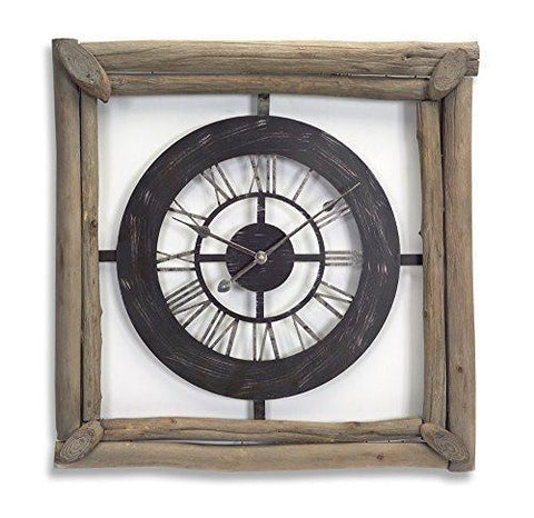 Rustic Square Clock
