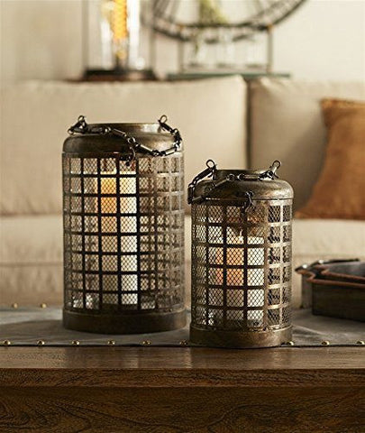 Antique Mesh Candle Lanterns