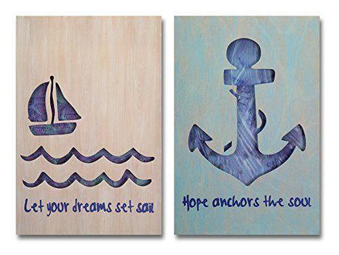 Sail/Anchor Wall Plaques