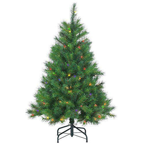 Mixed Needle Wisconsin Spruce Multicolor Lighted Christmas Tree