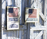 American Flag Wall Plaque (2 Asst)