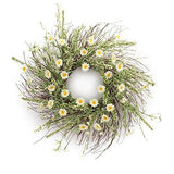 Floral Daisy Heather Wreath