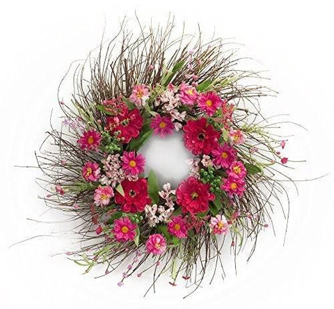 Spring Floral Mixed Flower Wreath