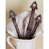 The GG Collection Fleur De Lis 5 Piece Twisted Metal Flatware Set